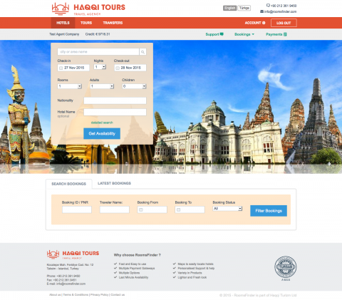 RoomsFinder Online Booking System