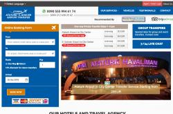 Frontend view from Efendi Travel's B2C transfer website